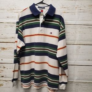 Vintage Tommy Hilfiger Striped Polo Shirt